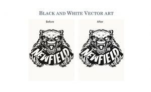 BLACK AND WHITE VECTOR ART
