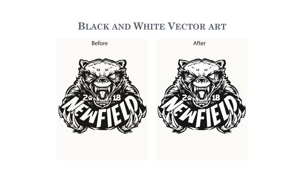 BLACK AND WHITE VECTOR ART