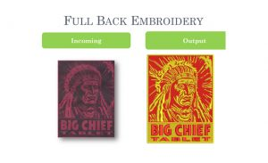 FULL BACK EMBROIDERY